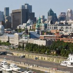 Skyline of old Port of Montreal