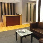Salle d'attente et reception du bureau St-Gabriel