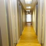 Le couloir des bureaux St-Gabriel